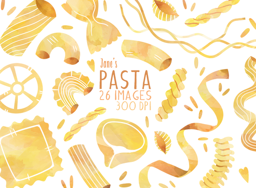 Pasta Graphics Set