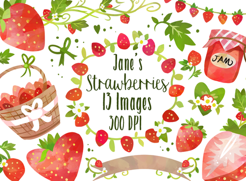 Strawberry Graphics Set