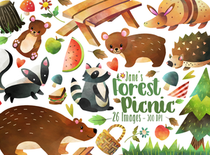 Forest Picnic Graphics Set