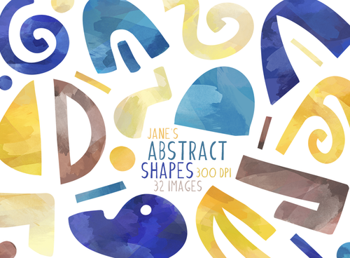 Abstract Shapes Graphics Set