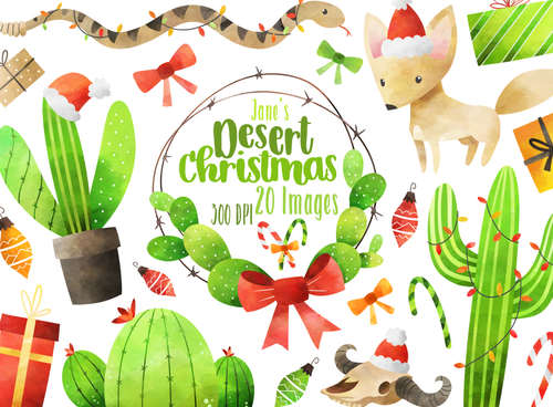 Desert Christmas Graphics Set