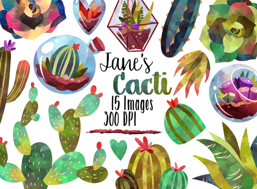 Succulents Graphics Set
