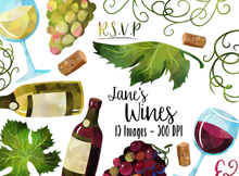 Wine Graphics Set
