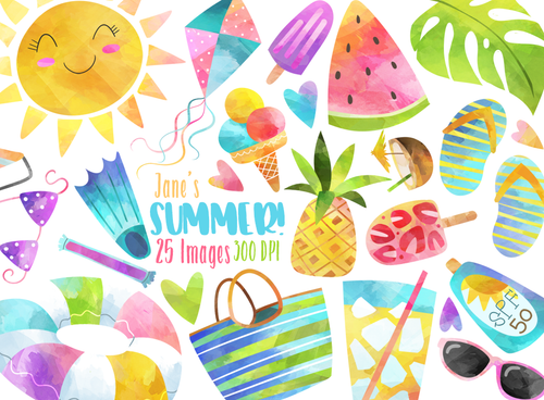 Summer Graphics Set