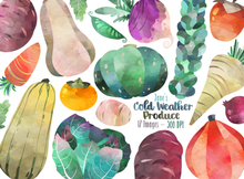 Cold Weather Produce Graphics Set