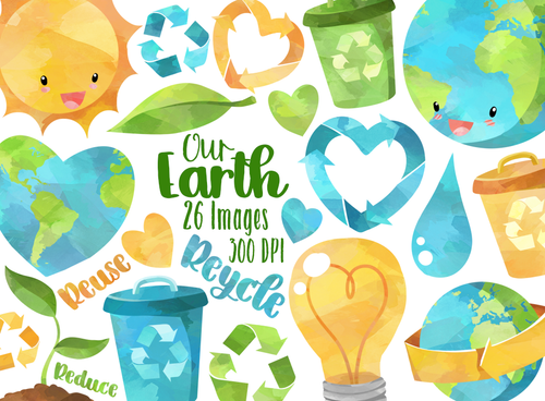 Earth Day Graphics Set