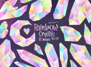 Rainbow Crystals Graphics Set