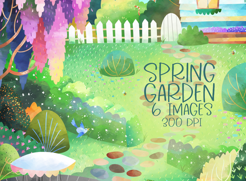 Spring Garden Graphics Set