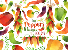Hot Peppers Graphics Set