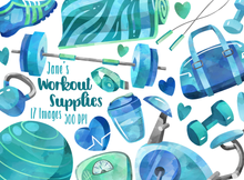 Workout Supplies Graphics Set