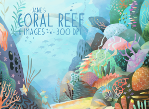 Coral Reef Graphics Set