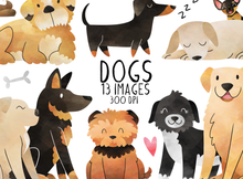 Watercolor Dogs Graphics Set