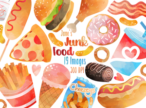Junk Food Graphics Set