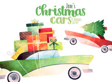 Christmas Cars Graphics Set