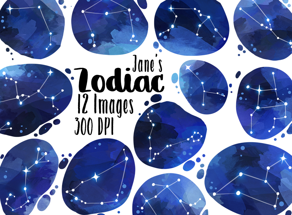 Zodiac Constellations Graphics Set