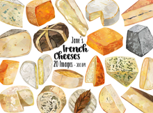 French Cheese Graphics Set