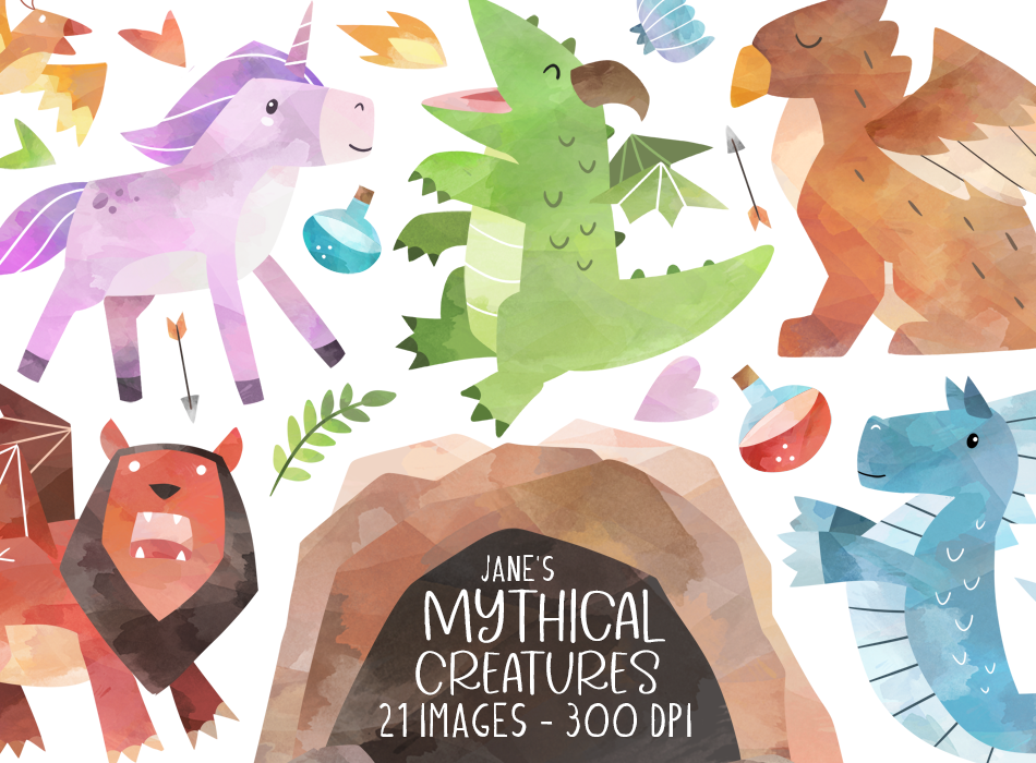Mythical Creatures Graphics Set
