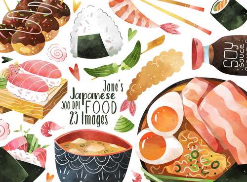 Japanese Food Graphics Set