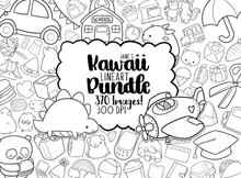Kawaii Lineart Bundle Graphics Set