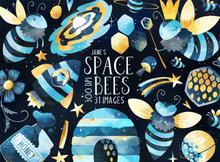 Space Bees Graphics Set
