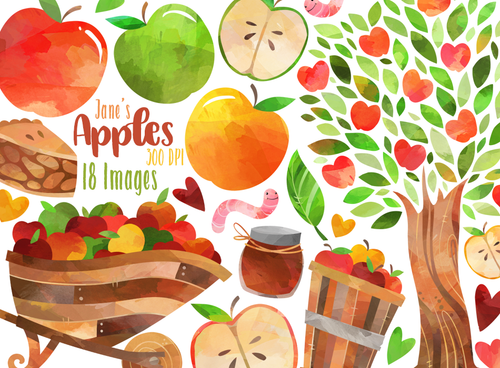 Apples Graphics Set