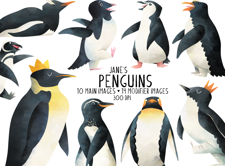 Penguins Graphics Set