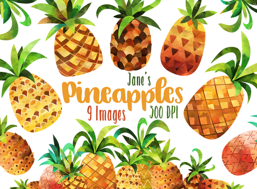 Pineapples Graphics Set
