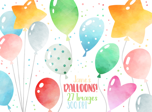 Balloons Graphics Set