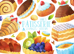 French Pastries Graphics Set