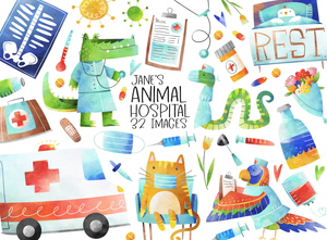 Animal Hospital Graphics Set