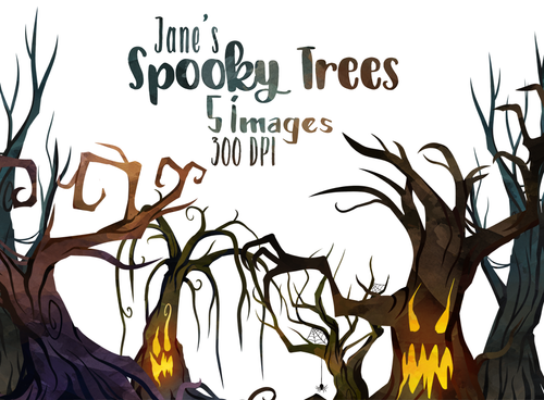 Spooky Trees Graphics Set