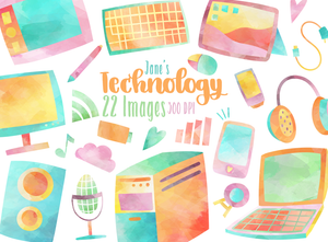 Technology Graphics Set