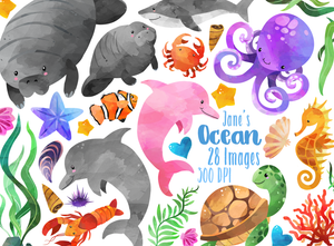 Ocean Life Graphics Set