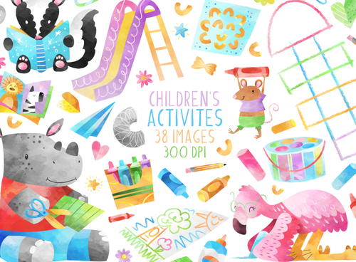 Children's Activities Graphics Set