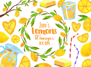 Lemon Graphics Set