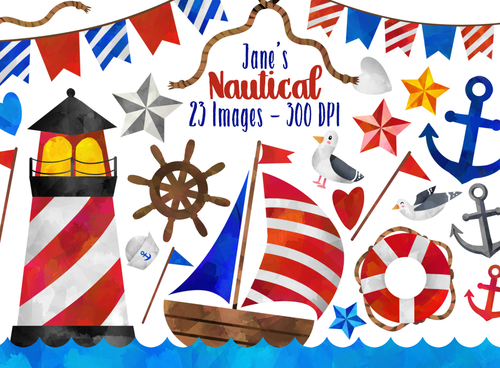 Nautical Graphics Set