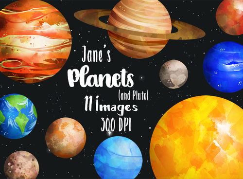 Planet Graphics Set