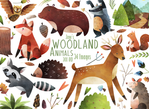 Woodland Animals Graphics Set
