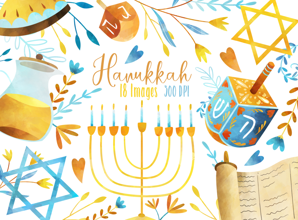 Hanukkah Graphics Set