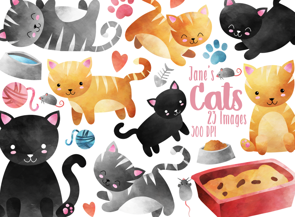 Cat Graphics Set