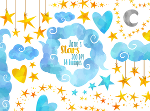 Stars and Clouds Graphics Set