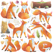 Foxes Graphics Set