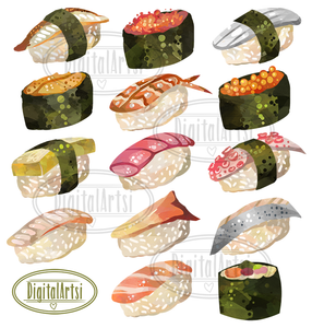 Sushi Graphics Set
