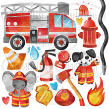 Firefighter Graphics Set