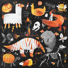 Halloween Animals Graphics Set