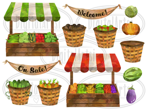 Farmer's Market Graphics Set