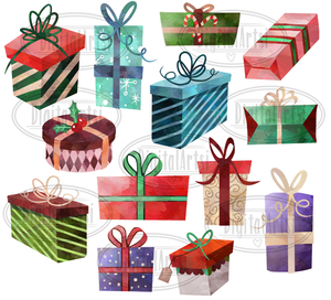Christmas Presents Graphics Set