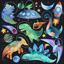 Space Dinosaurs Graphics Set