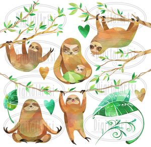 Sloth Graphics Set