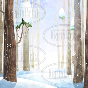 Snowy Forest Graphics Set